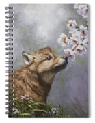 Wolf Pup - Baby Blossoms Spiral Notebook