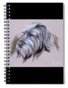Wolfhound Portrait Spiral Notebook
