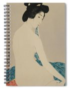 Woman After A Bath Taisho Era Spiral Notebook