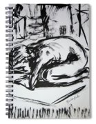 Woman Alone With Shadows Spiral Notebook
