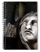 Woman And Cross Spiral Notebook