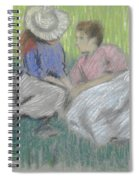 Woman And Girl On The Grass Spiral Notebook