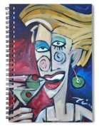 Woman At Martini Bar Spiral Notebook