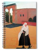 Woman At The Wall Spiral Notebook