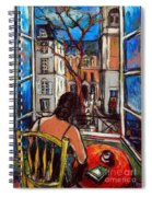 Woman At Window Spiral Notebook