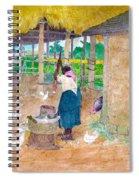 Woman Beating Cassava Jamaica Spiral Notebook