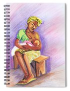 Woman Breastfeeding Bay In Rwanda Spiral Notebook