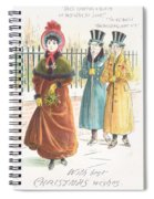 Woman Carrying Bunch Of Mistletoe Spiral Notebook