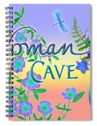 Woman Cave With Dragonfly Spiral Notebook
