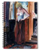 Woman Dressed Spiral Notebook