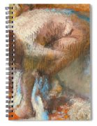 Woman Drying Her Feet Spiral Notebook