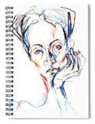 Woman Expression Spiral Notebook