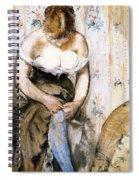 Woman Fastening Her Garter Spiral Notebook