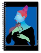 Woman Holding Cat Spiral Notebook
