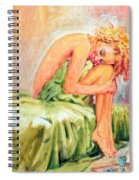 Woman In Blissful Ecstasy Spiral Notebook