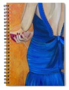 Woman In Blue Spiral Notebook