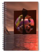 Woman In Contemplation Nude Spiral Notebook