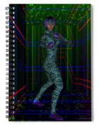 Woman In Cyber Passage Spiral Notebook