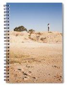 Woman In Landscape Spiral Notebook