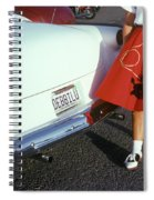 Woman In Red Poodle Skirt And Saddle Spiral Notebook