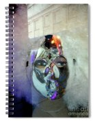 Woman In Silver Mask Spiral Notebook