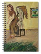Woman In The Art Gallery Spiral Notebook