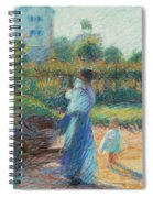 Woman In The Garden Spiral Notebook