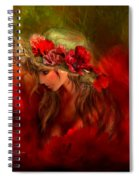 Woman In The Poppy Hat Spiral Notebook