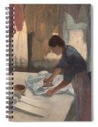 Woman Ironing Spiral Notebook