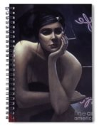 Woman Left Lonely Spiral Notebook