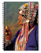 Akha Hill Tribe Woman  Thailand Spiral Notebook