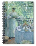 Woman On A Balcony  Spiral Notebook