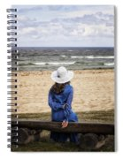Woman On A Bench Spiral Notebook