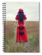 Woman On Field Spiral Notebook