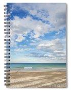 Woman On Manly Beach In Sydney Australia Spiral Notebook