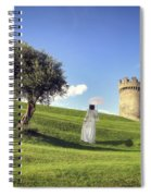 Woman On Meadow Spiral Notebook