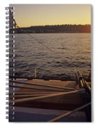 Woman On Sailboat Sunset Spiral Notebook