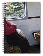 Woman On Train - Budapest Spiral Notebook