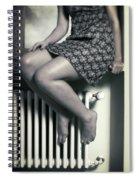 Woman On Window Sill Spiral Notebook