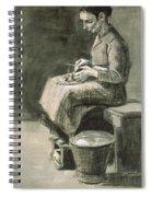 Woman Peeling Potatoes, 1882 Spiral Notebook