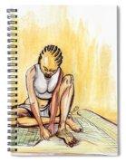 Woman Plaiting Mats In Rwanda Spiral Notebook