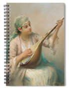 Woman Playing A String Instrument Spiral Notebook