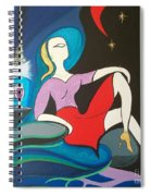 Woman Reclined In Chair Spiral Notebook