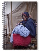 Woman Reenactor Sewing In A Civil War Camp Spiral Notebook