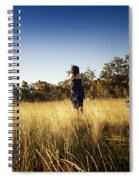 Woman Running Through Field Spiral Notebook