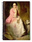 Woman Seated In A Forest Glade Spiral Notebook