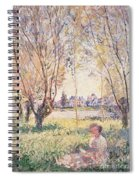 Woman Seated Under The Willows Spiral Notebook