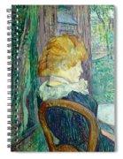 Woman Sitting In A Garden Spiral Notebook