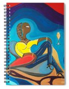 Woman Sitting In Chair Surrounded By Female Spirits Spiral Notebook