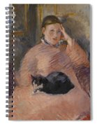 Woman With A Cat Spiral Notebook